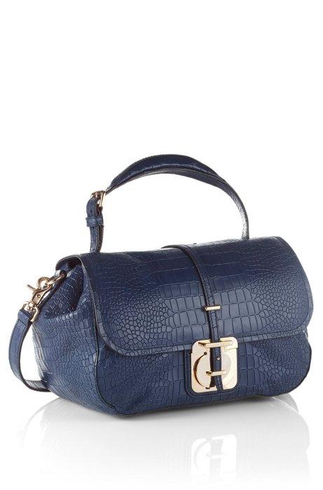 Leather handbag 'Calanthia-C', Open Blue