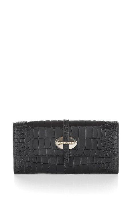 Cow leather wallet 'Coralline-C', Black
