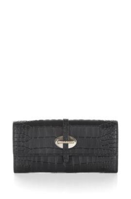 Portemonnaie ´Coralline-C` aus Rindsleder, Schwarz