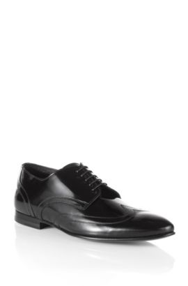Chaussures Derby en cuir de vachette, Evvior, Noir