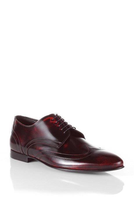 Leather Derby 'Evvior', Red