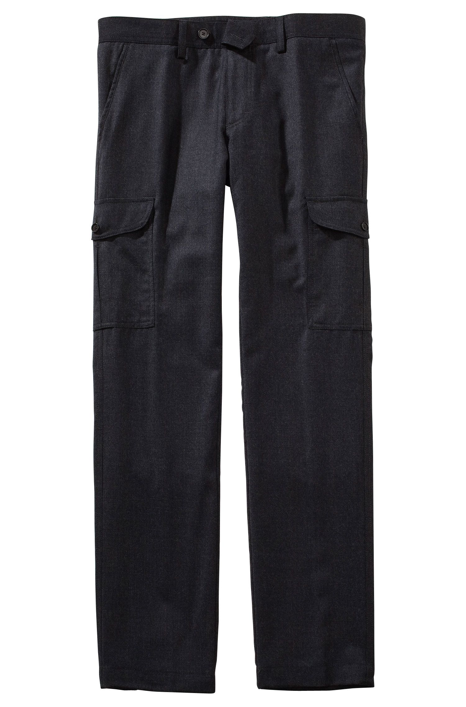Pantalon d'aspect chiné, Trap