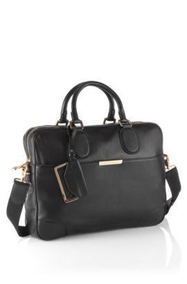 Workbag ´Malange-L` aus Kalbsleder, Schwarz
