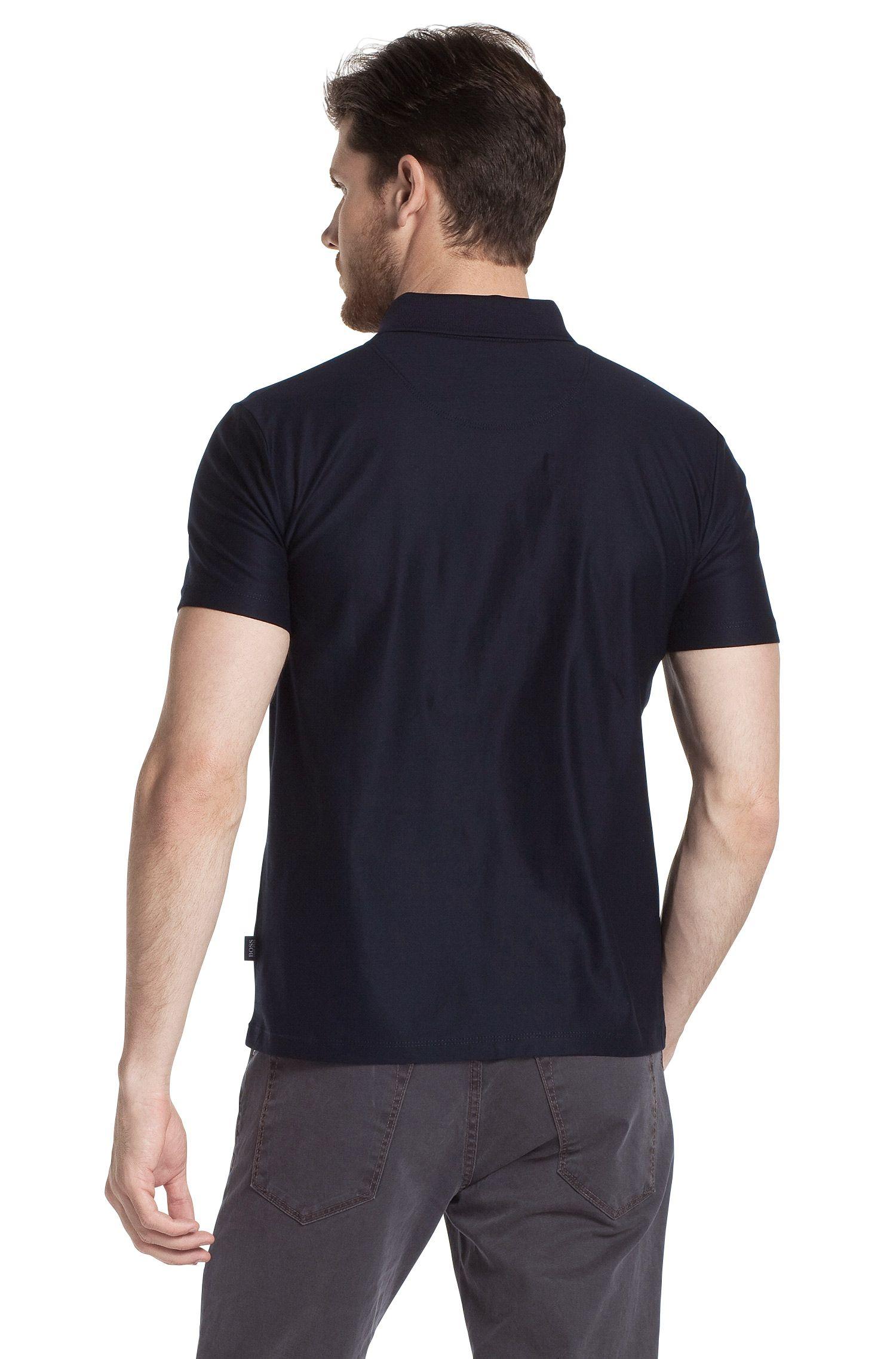 Poloshirt ´Bugnara 11`aus reiner Baumwolle, Dunkelblau