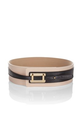 Cow leather belt 'Narika', light pink