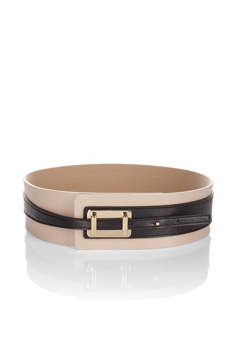 Cow leather belt 'Narika', light pink