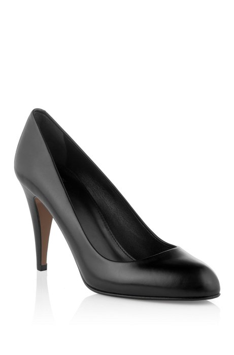 Court shoe made of smooth calf leather 'Daylin', Black