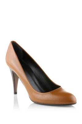 Court shoe made of smooth calf leather 'Daylin', Brown
