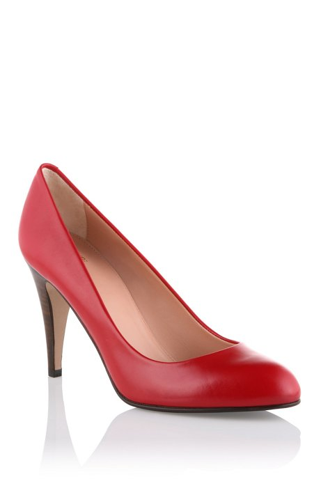 Court shoe made of smooth calf leather 'Daylin', Dark pink