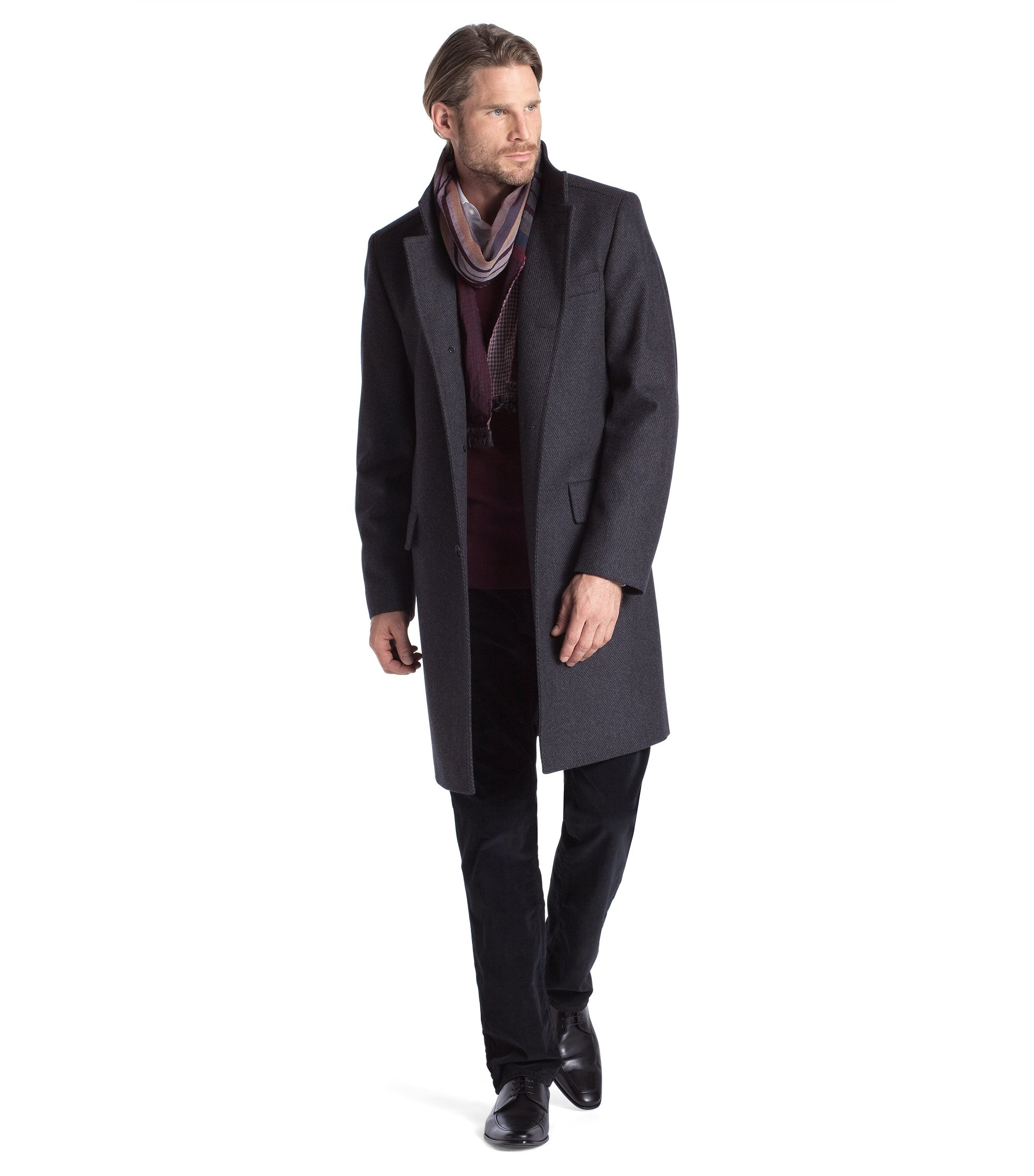 New wool blend coat 'The Sintrax', Anthracite