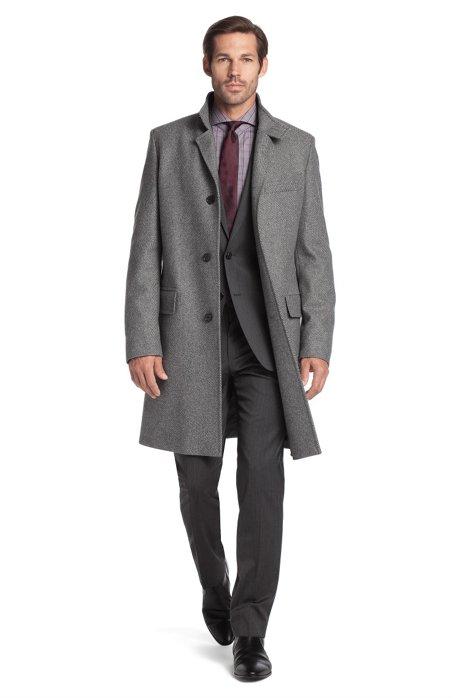 New wool blend coat 'The Sintrax', Grey