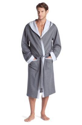 Morgenmantel ´Hooded Robe BM` mit Kapuze, Hellgrau