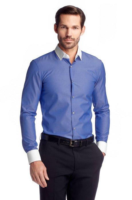 Business shirt with Kent collar 'Jonne', Blue