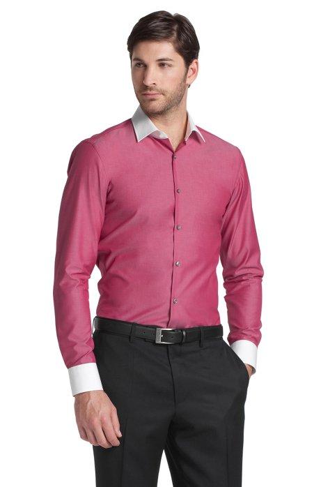 Business shirt with Kent collar 'Jonne', Red