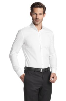 Chemise business à col requin, Helge, Blanc