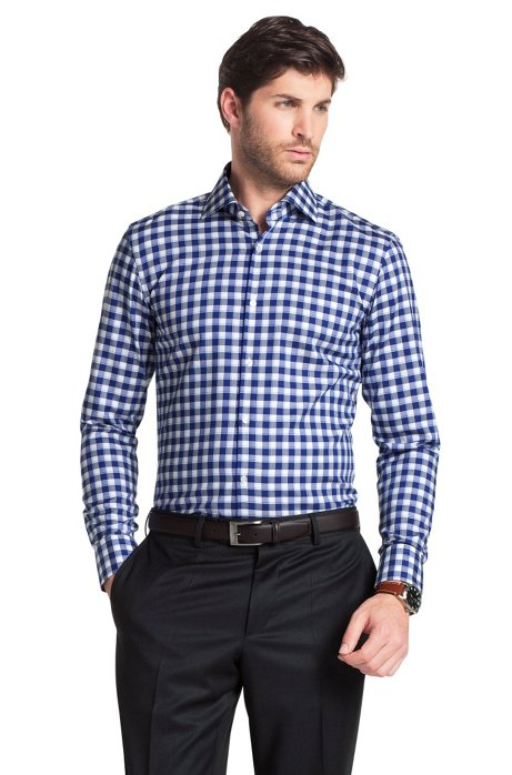 Business shirt with Kent collar ´Jaron`, Blue