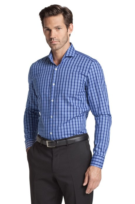 Business shirt with a shark collar 'Dwayne', Open Blue