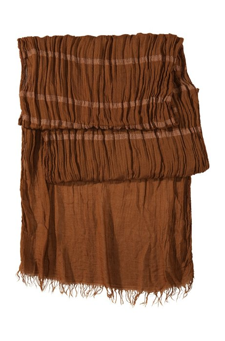 Crinkle scarf 'Men-Z 326', Brown