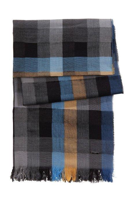 7f77c1265ec35 HUGO - Check scarf 'Men-Z 355'