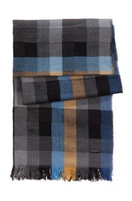 Foulard à carreaux, Men-Z 355, Bleu