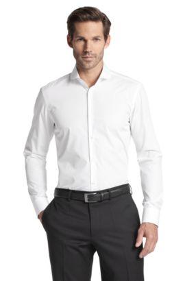 Businessoverhemd 'Josh' van zuiver katoen, Wit