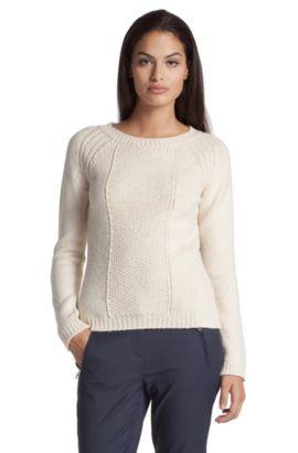 Strick-Pullover ´F4469` mit variierendem Dessin, Natur
