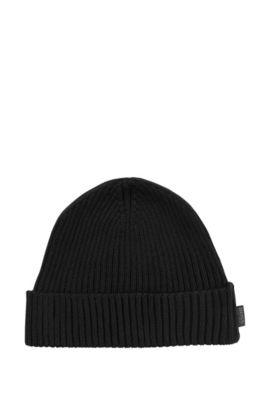 Mütze ´Nattea` mit runder Form, Schwarz