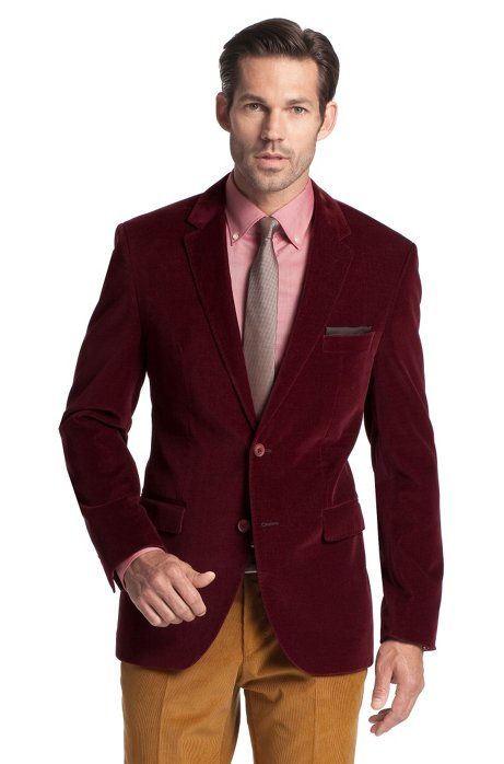 Cotton tailored jacket 'The Keys7', Red