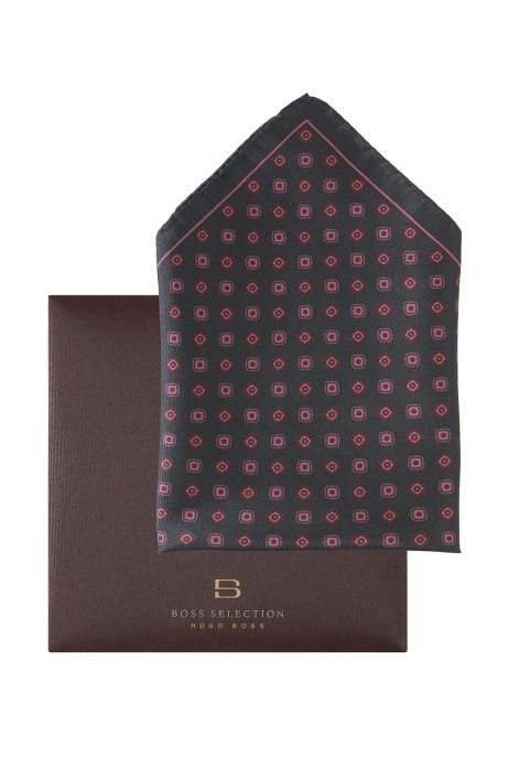 Pocket handkerchief 'Pocket square 33x33', Open Brown