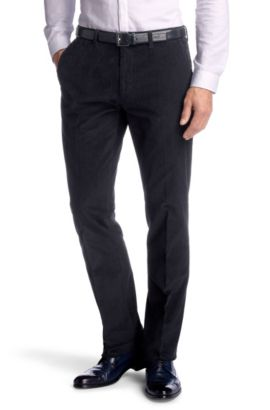 Pantalon en velours côtelé, Shadow5-W, Bleu foncé