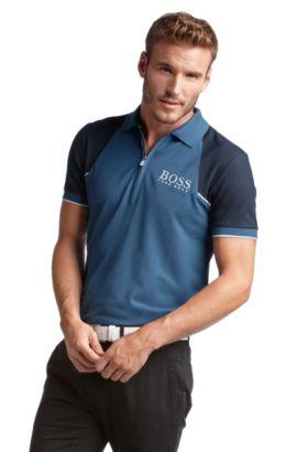 Golfpolo ´Payton Pro` mit Reißverschluss, Blau