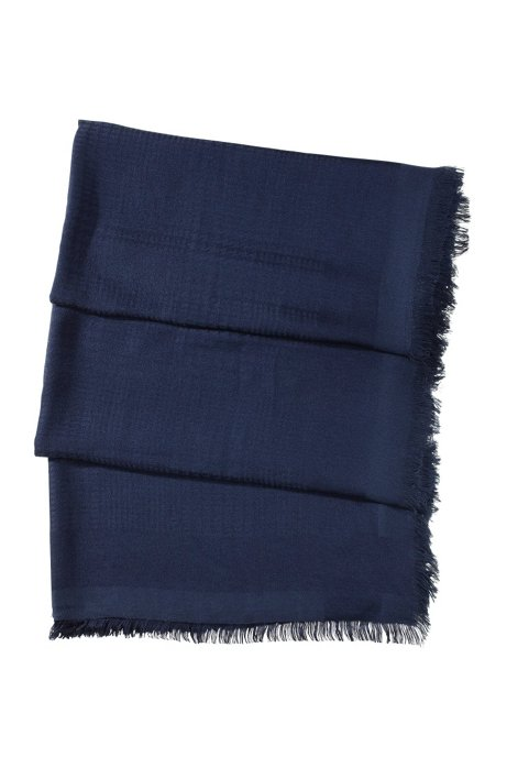 High-quality viscose-modal blend scarf 'SC470', Open Blue