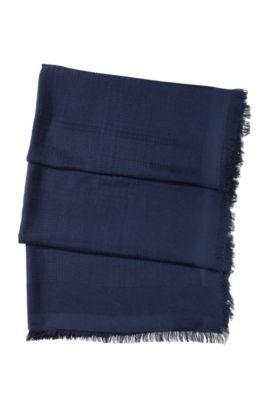 Foulard viscose et modal haut de gamme, SC470, Bleu vif