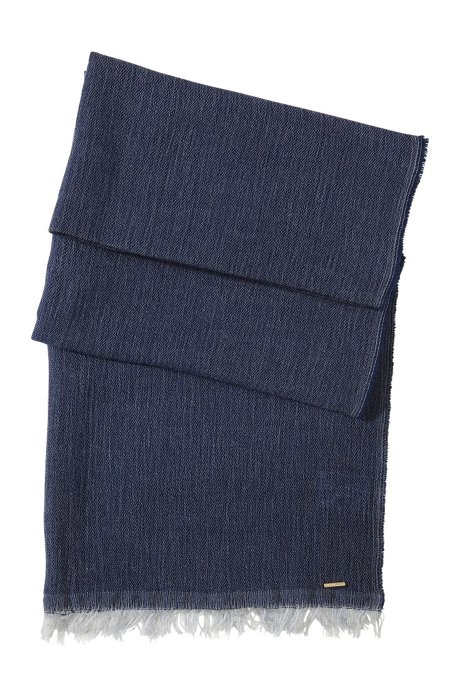 Scarf made of soft, new wool/modal blend 'SC472', Open Blue