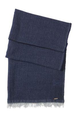Foulard doux en laine vierge et modal, SC472, Bleu vif