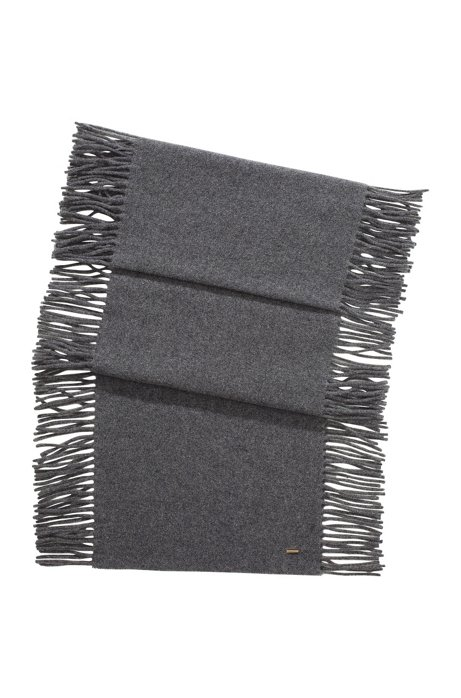 New wool-cashmere blend scarf 'SC479', Open Grey