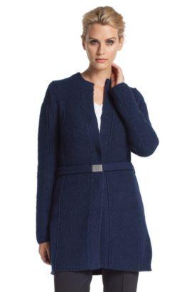 Cardigan ´F4468` lang model, Lichtblauw