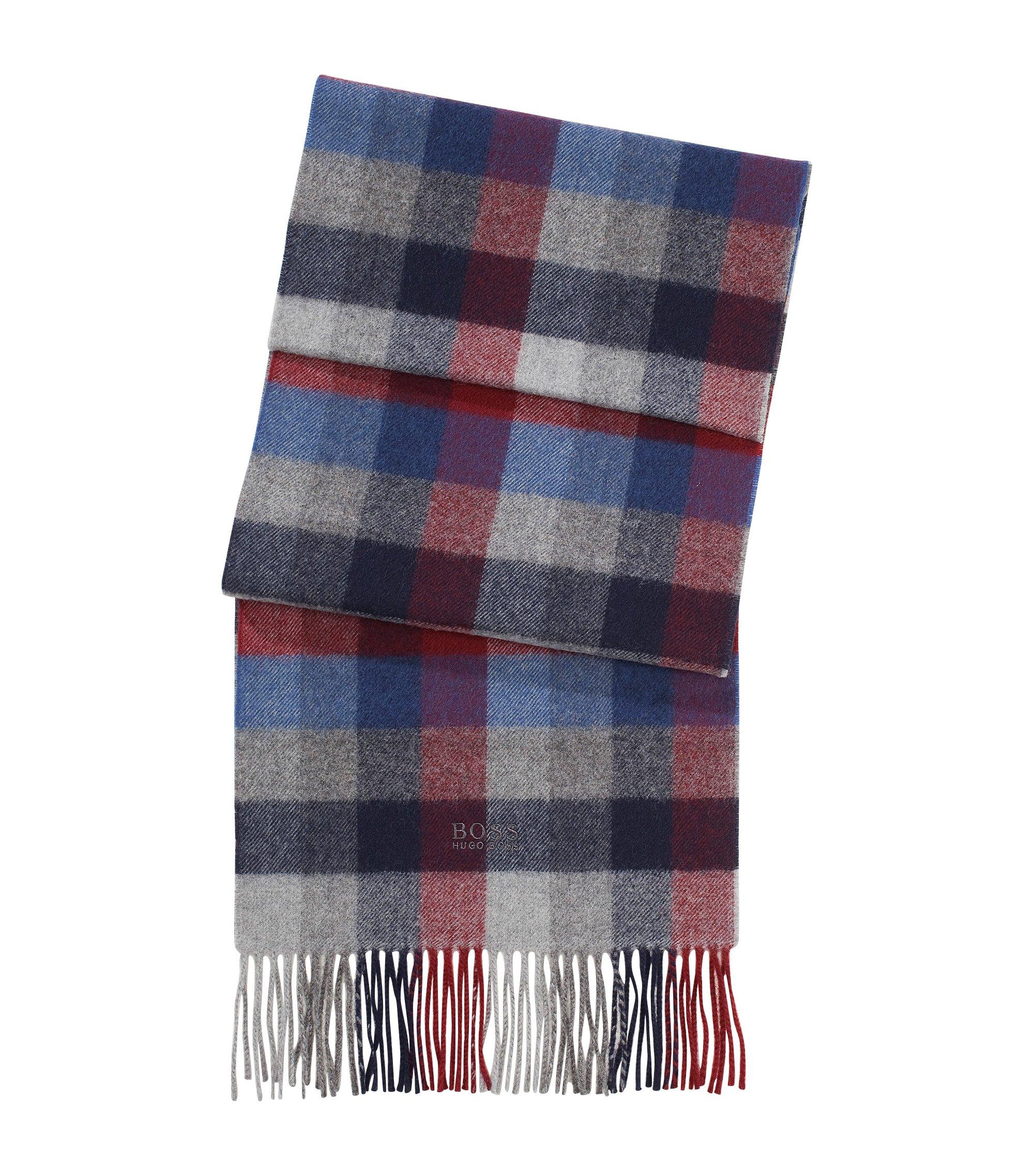 Schal ´Frando` mit Karo-Muster, Dunkelblau