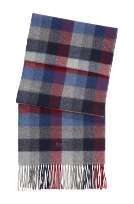 Sjaal ´Frando` met ruitdessin, Donkerblauw