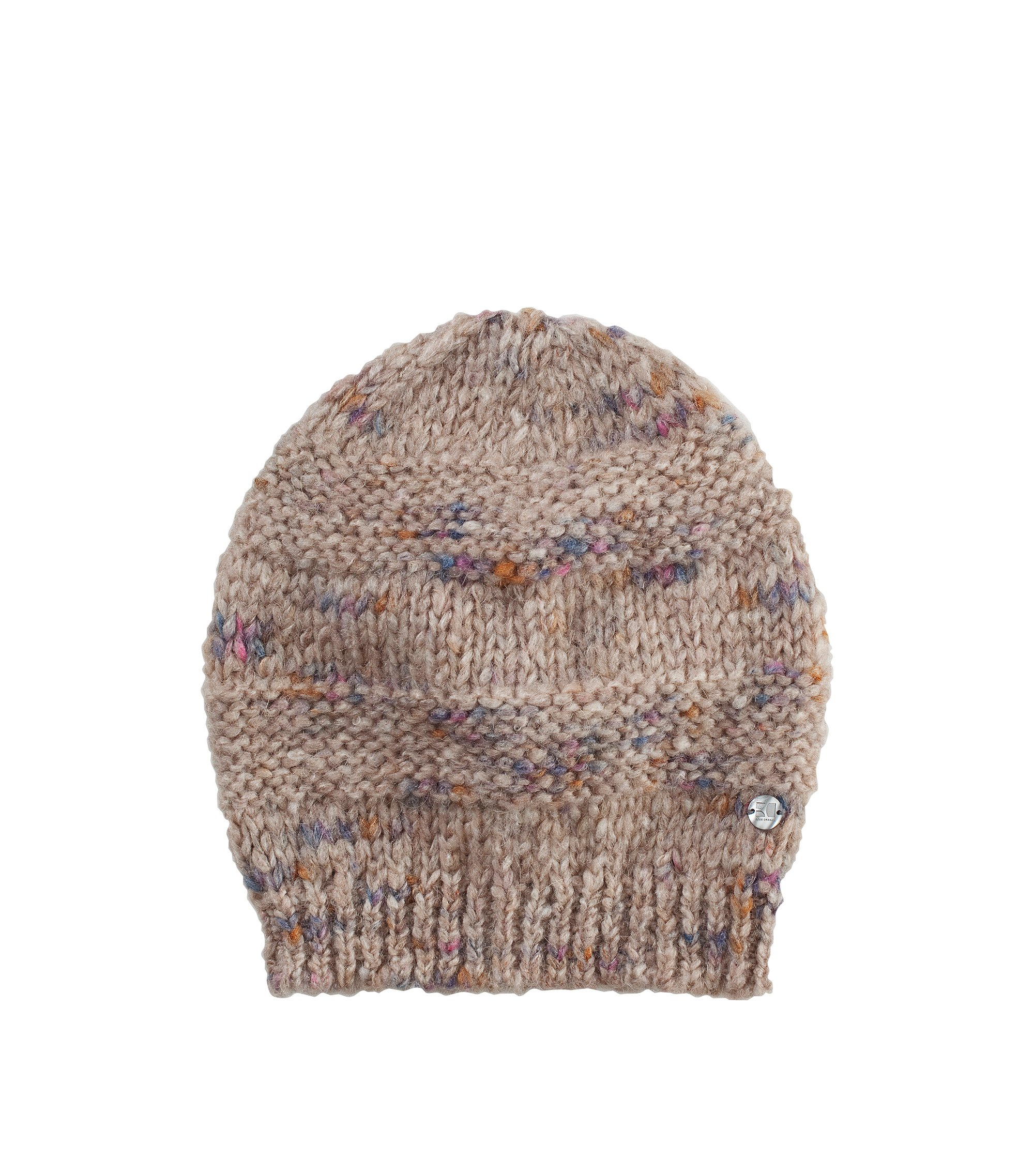 Hat with a mottled finish 'Waloa', Light Brown
