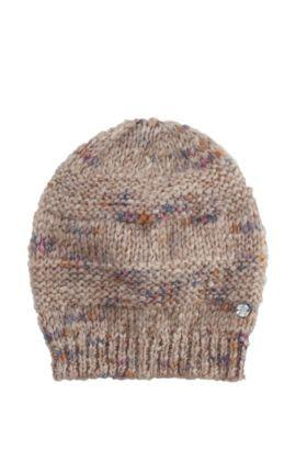 Mütze ´Waloa` in melierter Optik, Hellbraun