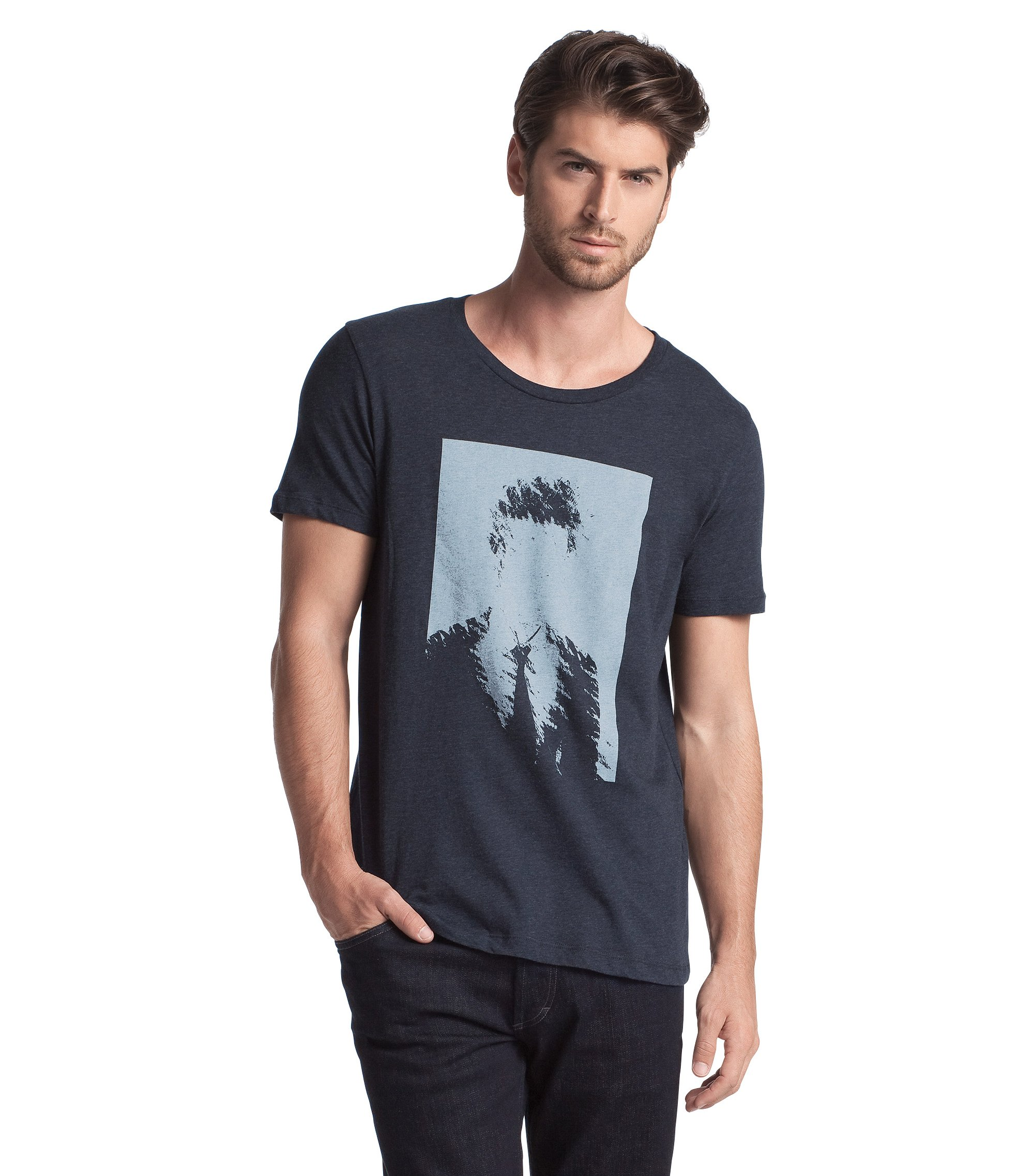 Crew neck T-Shirt ´Dames`, Open Grey