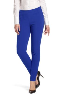 Pantalon 7/8 en viscose mélangée, Hicarla, Bleu
