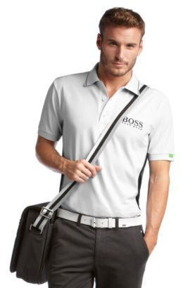 Golfpolo ´Paddy MK` aus Funktionsmaterial, Weiß