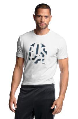 T-Shirt ´Tee 3` aus leichter Baumwolle, Weiß
