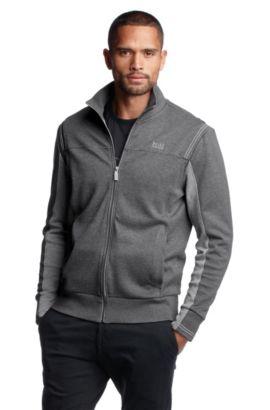 Sweatjacke ´Skaz 1` mit seitlichen Eingrifftasch, Grau