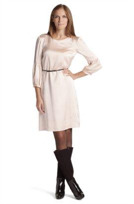 Kleid ´Delima` aus Seiden-Gemisch, Hellorange
