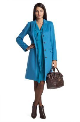 Manteau court laine vierge cachemire, Cavani, Bleu vif