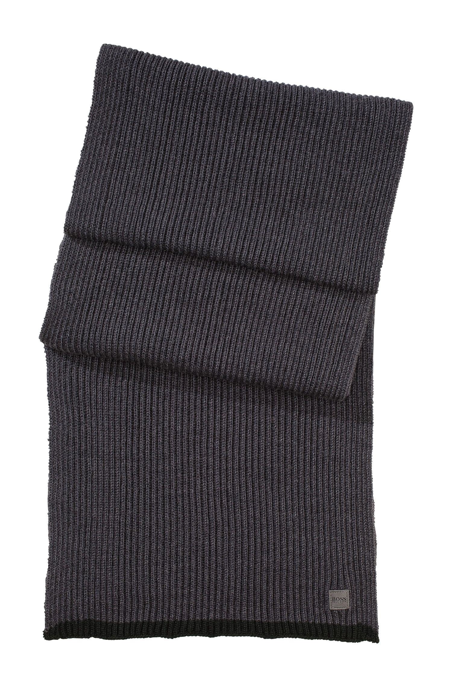 Gebreide sjaal 'Wotano' van zuivere wol