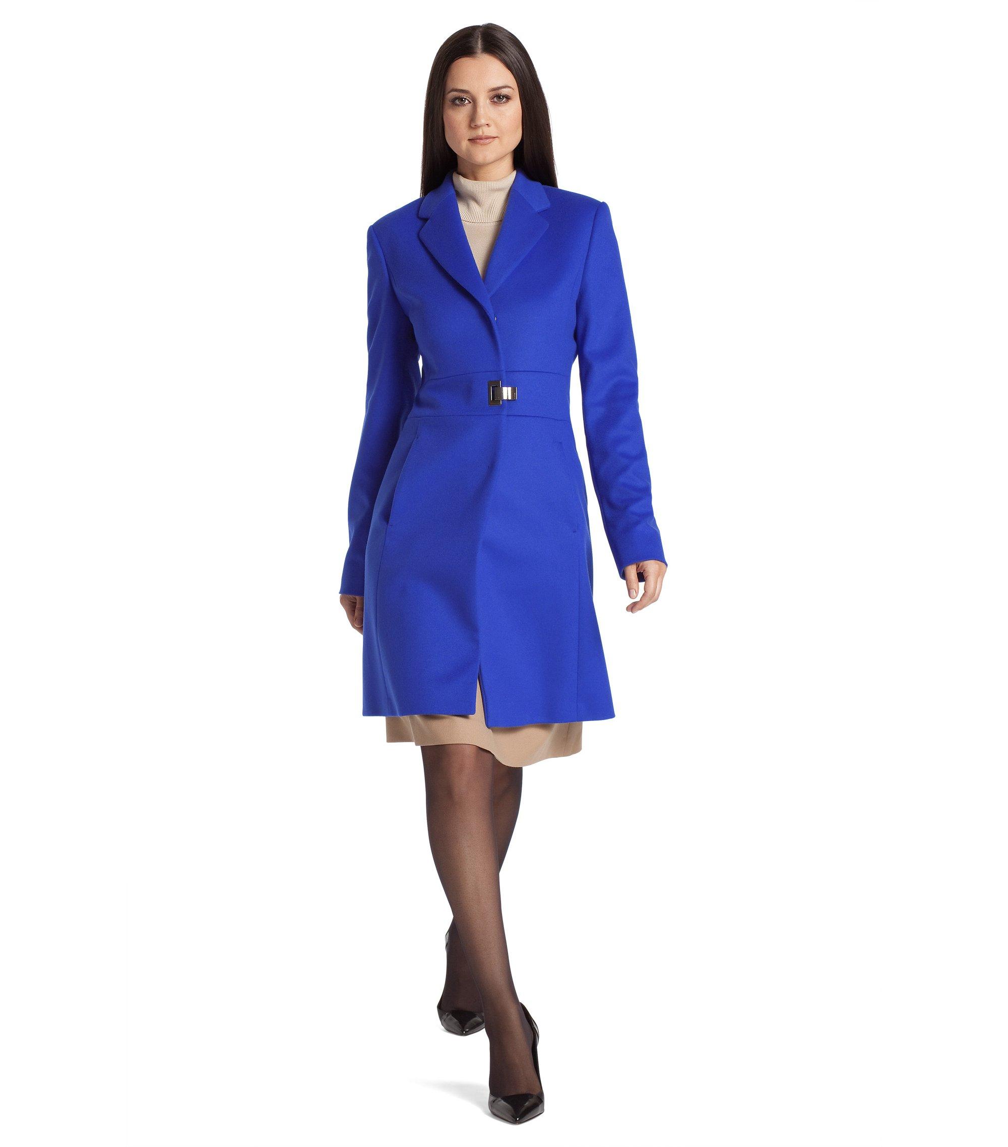 Blended cashmere coat from HUGO ´Meranda`, Blue